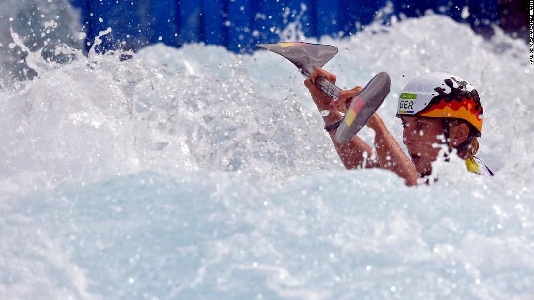 German canoeist Luuka Jones won silver in the K-1 slalom.