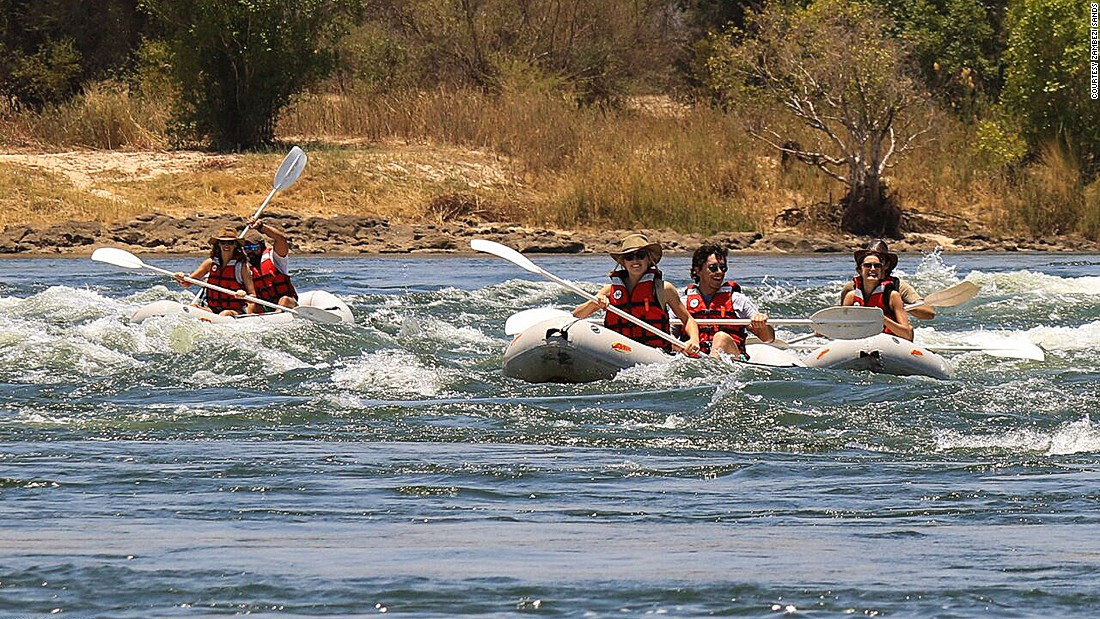 The river runs some 2,500 kilometers, from Zambia to Mozambique, where it outlets into the Indian Ocean.