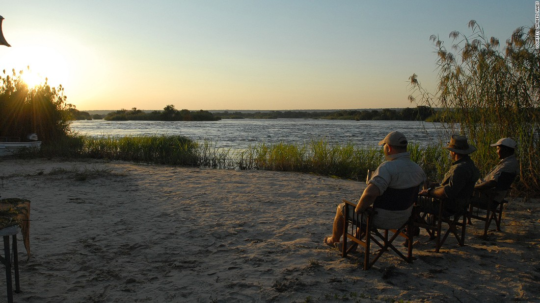 Zambezi Sands features eight luxury tents with private splash pools, outdoor showers and unbeatable views of the river.