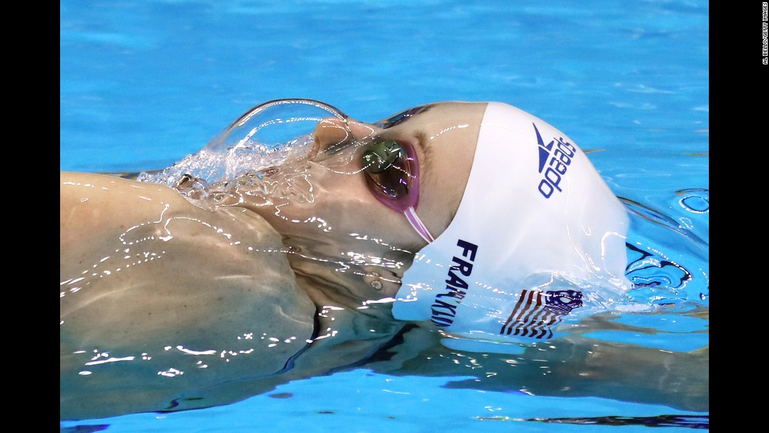Swimmer Missy Franklin competes for the United States on Thursday, August 11.