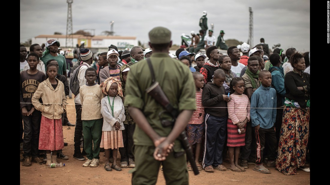 Supporters of Zambian President Edgar Lungu attend a campaign rally in Lusaka, Zambia, on Wednesday, August 10.
