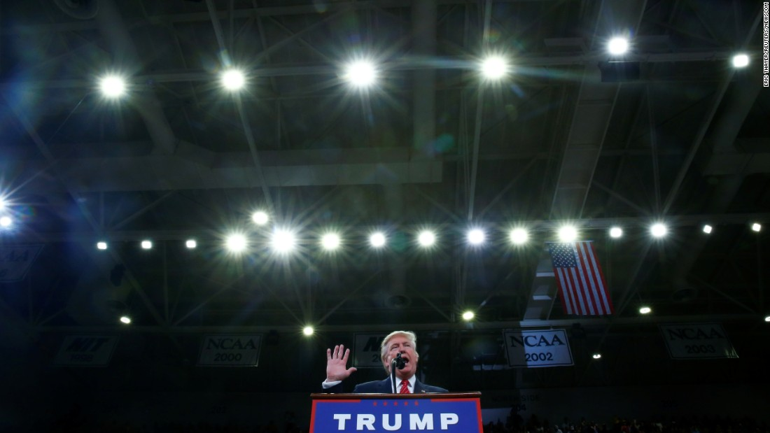 """Republican presidential nominee Donald Trump speaks at a campaign event in Wilmington, North Carolina, on Tuesday, August 9. Some of Trump's remarks about the right to bear arms <a href=""""http://www.cnn.com/2016/08/09/politics/donald-trump-hillary-clinton-second-amendment/"""" target=""""_blank"""">were interpreted as a threat of violence</a> against Democratic opponent Hillary Clinton. """"Hillary wants to abolish -- essentially abolish the Second Amendment,"""" Trump said. """"By the way, if she gets to pick, if she gets to pick her judges, nothing you can do, folks. Although the Second Amendment people, maybe there is, I don't know."""" Jason Miller, Trump's senior communications adviser, said in a statement that Trump was merely talking about the political power that Second Amendment supporters have as a group."""