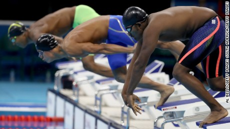 Robel Habte of Ethiopia competes in the Men's 100m Freestyle heat on Day 4 of the Rio 2016 Olympic Games at the Olympic Aquatics Stadium on August 9, 2016