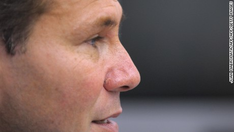 """Argentina's Public Prosecutor Alberto Nisman gives a news conference in Buenos Aires on May 20, 2009. Nisman, who on January 14, 2015 accused President Cristina Kirchner of obstructing a probe into a 1994 Jewish center bombing, was found shot dead on January 19, 2015, just hours before he was due to testify at a congressional hearing. Alberto Nisman, 51, was found dead overnight in his apartment in the trendy Puerto Madero neighborhood of the capital. """"I can confirm that a .22-caliber handgun was found beside the body,"""" prosecutor Viviana Fein said. """"Death is due to gunshot."""" AFP PHOTO / JUAN MABROMATA / AFP / JUAN MABROMATA        (Photo credit should read JUAN MABROMATA/AFP/Getty Images)"""