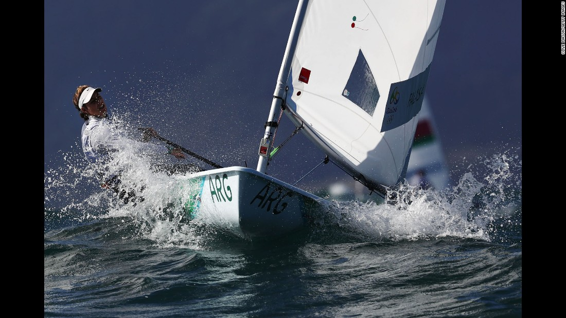 Argentine sailor Lucia Falasca competes in the laser radial class.