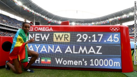 Rio 2016: Ethiopia's Almaz Ayana smashes women's 10,000m world record