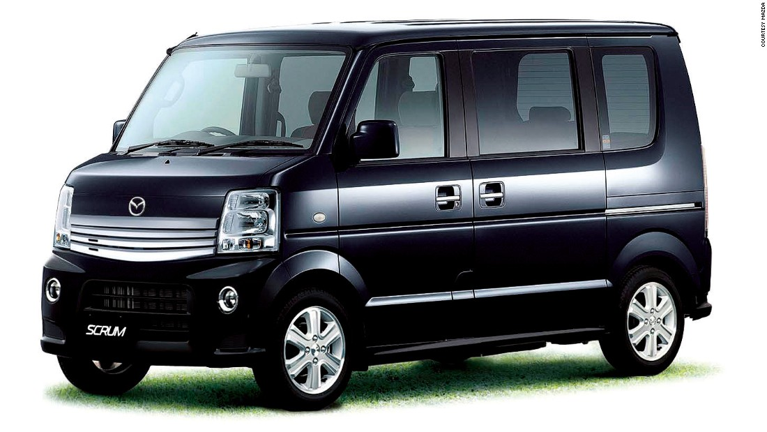 The kei-cars feature some of the Japanese brands' most tortured attempts to hijack the English language. Mazda's offering in the category is called the Scum Wagon.