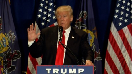 Donald Trump speaks in Altoona