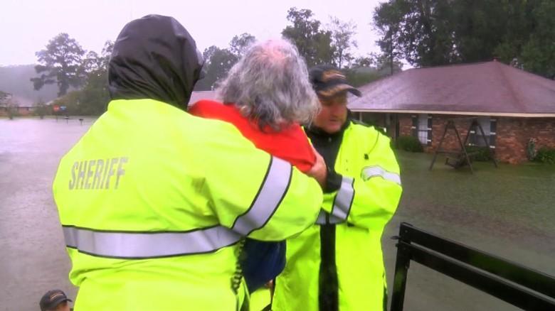 Louisiana flood rescue video sanchez newday_00000000