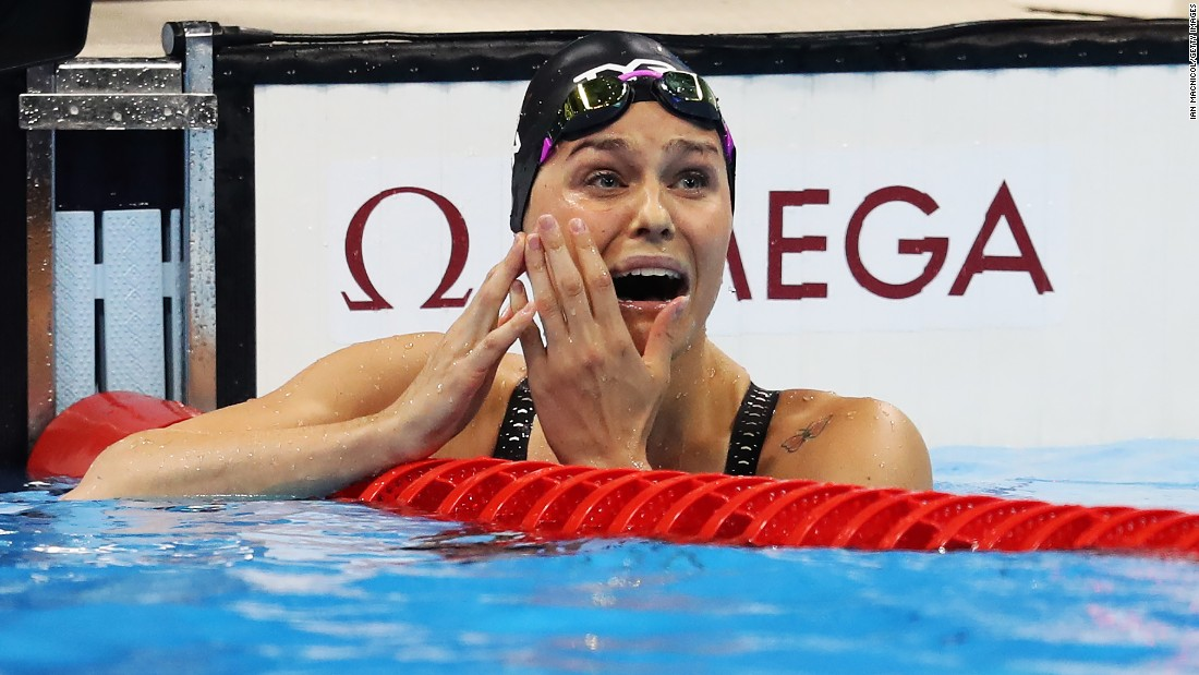 Danish swimmer Pernille Blume won the women's 50-meter freestyle final.