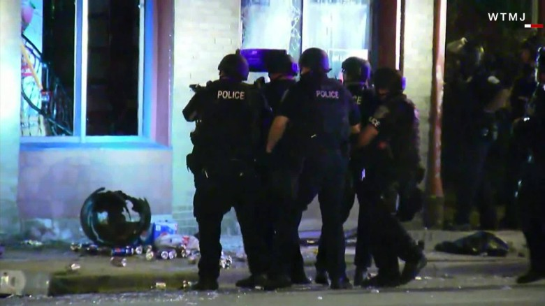 Protests turn violent in Milwaukee