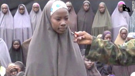 One of the missing schoolgirls shown in the video.