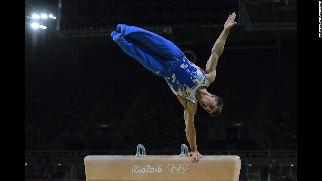 Max Whitlock won gold in the men's pommel horse final and also triumphed in the floor exercise -- the first Olympic titles won by a British gymnast.