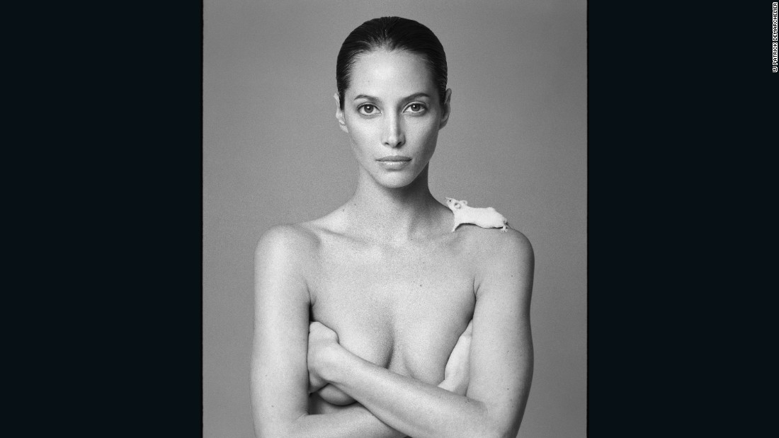 Christy and Mouse by Patrick Demarchelier