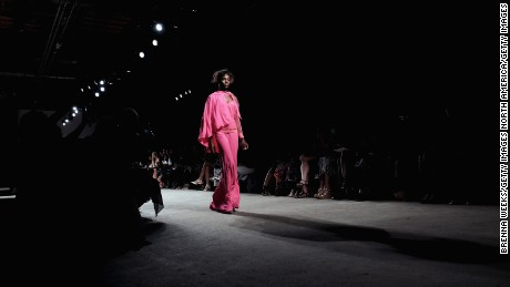 NEW YORK, NY - SEPTEMBER 13:  A model walks the runway at Tracy Reese S/S 2016 during New York Fashion Week at Art Beam on September 13, 2015 in New York City.  (Photo by Brenna Weeks/Getty Images)