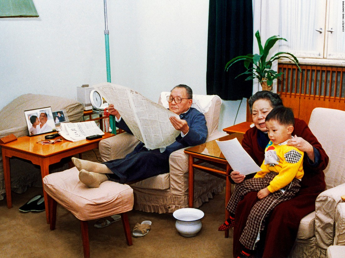 What do China's stolid Communist Party leaders look like behind the propaganda posters? A lot like us, it turns out. Yang Shaoming's candid series capture the lives of leaders, including China's former president Deng Xiaoping.