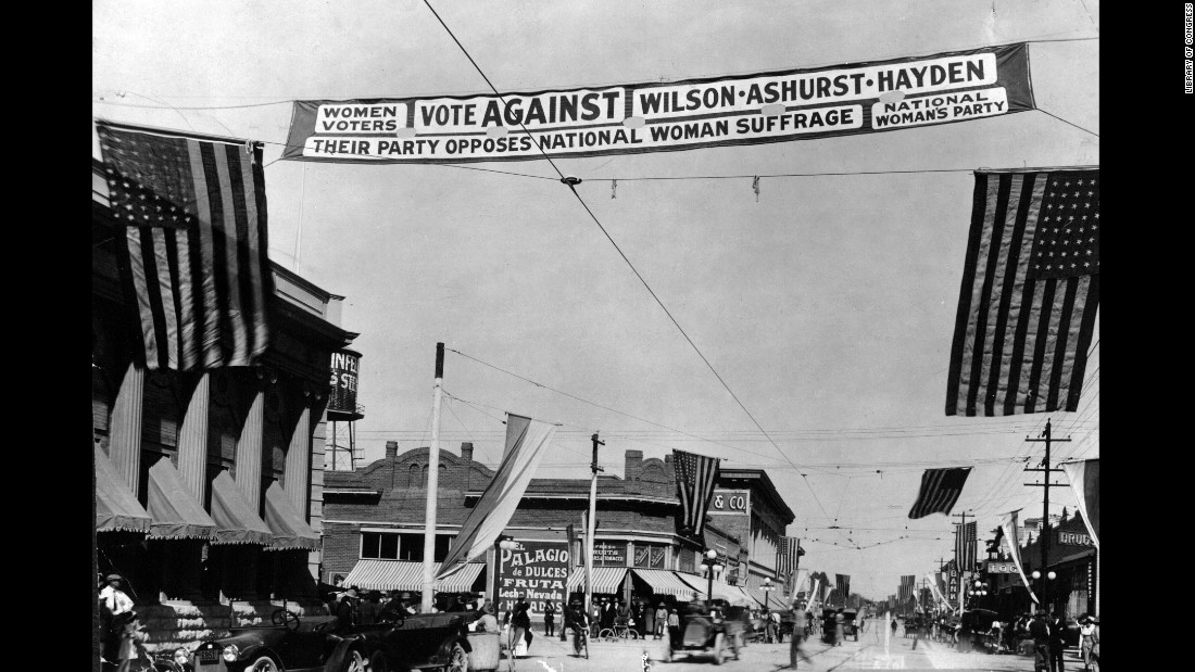 As America grew westward, many new states joining the union allowed women to vote. The suffrage movement heavily campaigned out west to apply pressure on Congress and the President to approve a suffrage amendment.