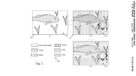 cnn money underwater iphone patent