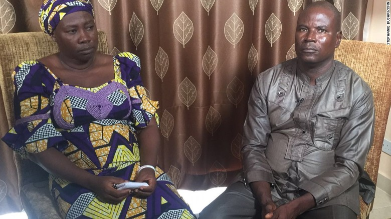 Esther Yakubu and Yakubu Kabu say they still hope their daughter will come home safely.