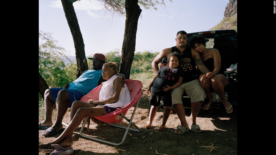 """A family on Oahu's west side. """"I spent a good amount of time with that family,"""" Jung said. """"I must have taken I-don't-know-how-many shots because I didn't feel like I had the shot that I wanted. Afterward they were like, 'Oh, do you want to hang out?' """""""