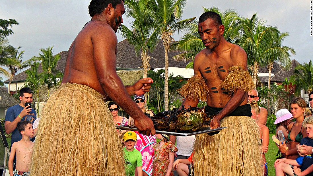 Fijian barbecue, or lovo, involves piping-hot stones placed into a large pit oven to allow slowly smoked cooking.
