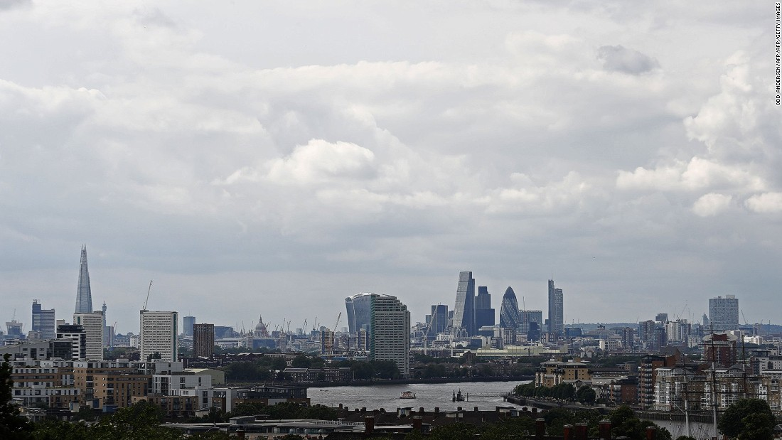 """The majority of London's extreme skyscrapers -- such as One Canada Square, Heron Tower and the Gherkin -- are located in the """"Eastern Cluster""""."""