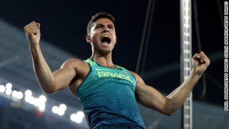 Thiago Braz da Silva after winning gold.