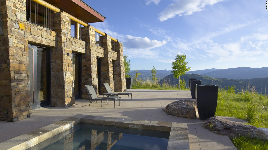 At the Amangani resort in Wyoming, the expansive Amangani Homes harmonize with the landscape. The four-bedroom Sena Home features a workout studio and hot tub.