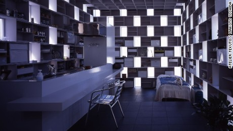 """The owner of Cell Bricks, also a designer, requested an """"out of the norm"""" home and Atelier Tekuto delivered. The house has lots of natural storage thanks to the stacked steel-box design, making it functional as well as visually engaging."""