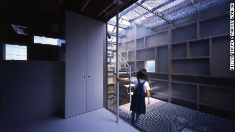 Also an architect, the owner of Layers requested a home that could accommodate multiple generations, as well as feature outdoor courtyards and connecting staircases. By using a mix of materials, Atelier Tekuto achieved a unique yet functional design.