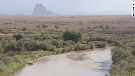 The San Juan River runs through Shiprock NM