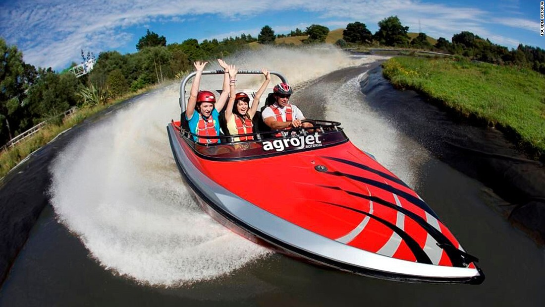 "The Agrojet is Agroworld's speedboat. With 450 horse power, it claims to be ""New Zealand's fastest jet boat."""