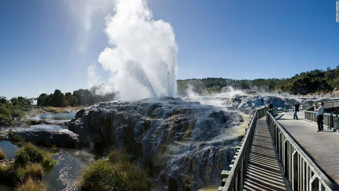 The 60-hectare site of Te Puia is home to the New Zealand Maori Arts and Crafts Institute. There's a live kiwi bird enclosure, the world-famous Pohutu Geyser and more than 500 natural geothermal wonders.