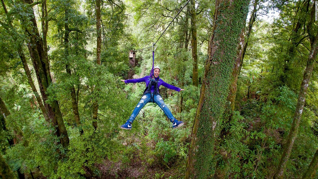 Rotorua Canopy Tours is the only native forest zip line canopy tour in New Zealand. A portion of the funds from each three-hour tour goes to forest conservation.
