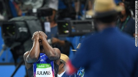 Disappointment for Julmis, who was competing in his second Olympics and has yet to reach a final.