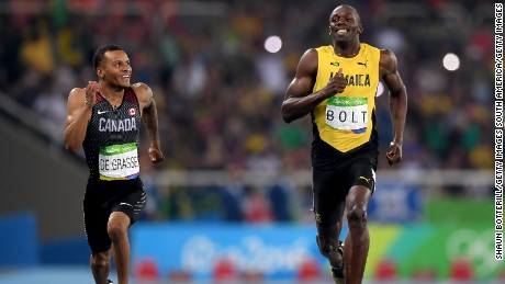 Bolt and De Grasse enjoyed their semifinal showdown.