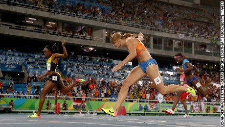 Thompson edged out Schippers to become Olympic champion.