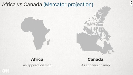 whats the real size of africa how western states used maps to downplay size of continent