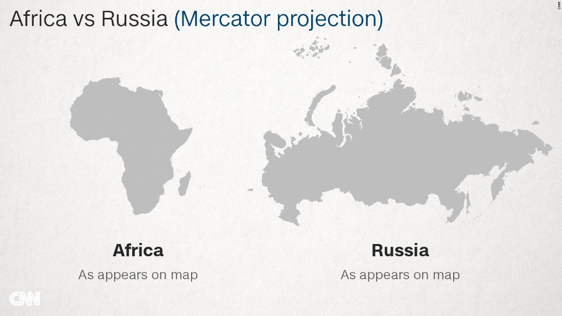 Why Do Western Maps Shrink Africa CNN - Russia world map