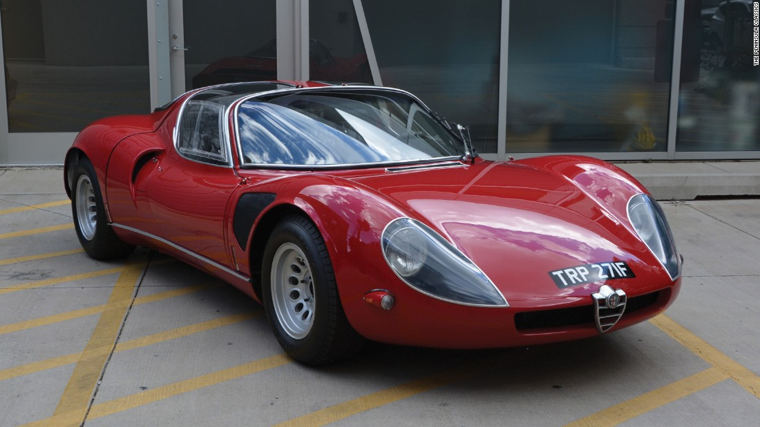 This 1968 Alfa Romeo Tipo 33 Stradale was also in competition.