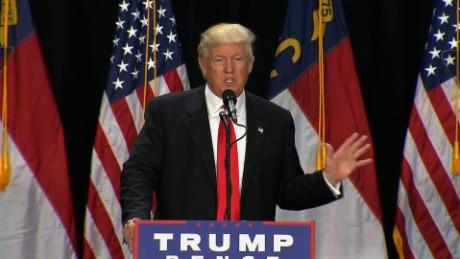donald trump at charlotte rally