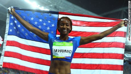 Dalilah Muhammad cruised to victory in the women's 400-meter hurdles.