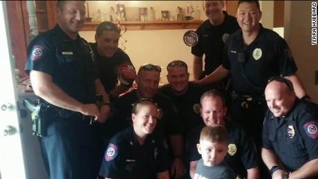 Beyond the call police child birthday party martin savidge pkg newday_00012108