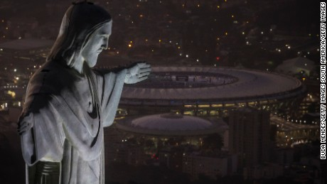 RIO DE JANEIRO, BRAZIL - JULY 31:  The Christ the Redeemer statue and Maracana Stadium are seen on July 31, 2016 in Rio de Janeiro, Brazil. The city of Rio de Janeiro already breathes the atmosphere of the Olympic Games, within 04 days to beginning. Rio 2016 will be the first Olympic Games in South America. The event will take place between 5 to 21 August. (Photo by Buda Mendes/Getty Images)