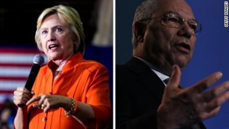 Hillary Clinton Colin Powell split