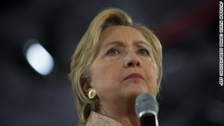 Democratic candidate for President Hillary Clinton speaks to supporters during a Hillary for America rally at John Marshall High School on August 17, 2016 in Cleveland, Ohio.