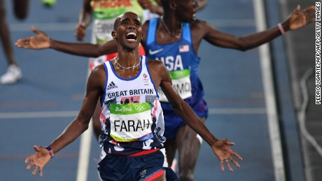 Mo Farah claims 5,000m and 10,000m double-double at Rio 2016