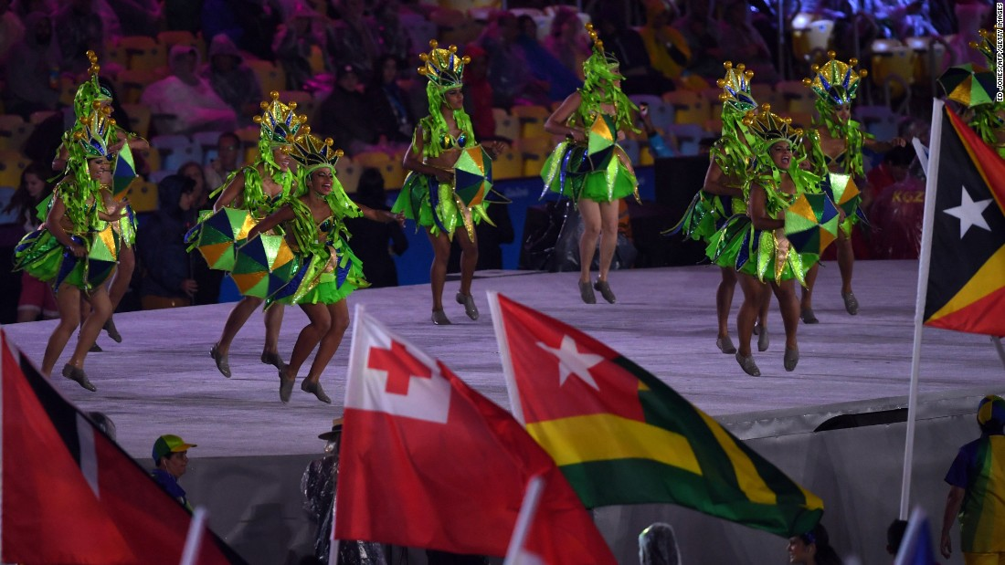 Dancers perform during the event.