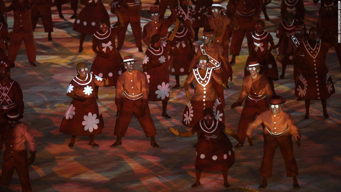 """Dancers perform the """"Bringing Clay to Life"""" routine."""