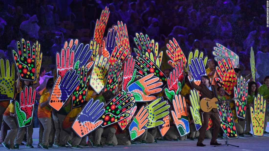 """Brazilian singer Lenine performs during the """"Recognition of the Volunteers."""""""